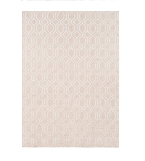 9' x 13' Beige Geometric Hand Knotted Rectangular Area Throw Rug - IMAGE 1
