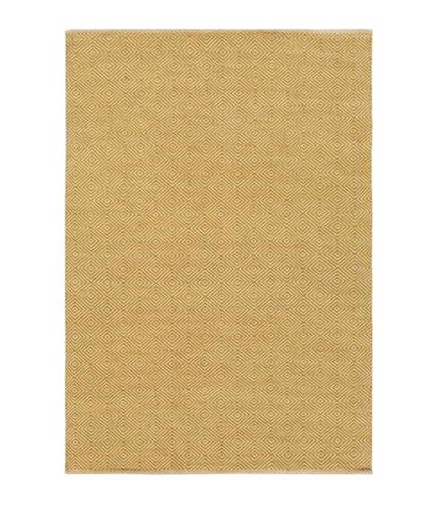 2' x 3' Linear Illusion Slate Yellow and Sand White Hand Woven Area Throw Rug - IMAGE 1