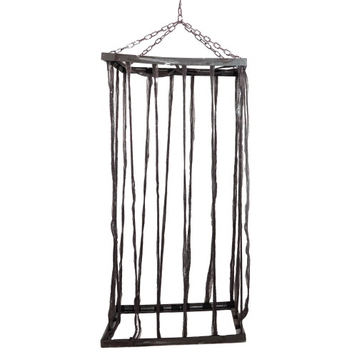 """75.5"""" Distressed Brown Life Size Cage Hanging Halloween Decoration - IMAGE 1"""