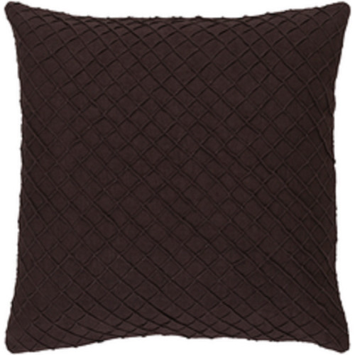 "22"" Brown Contemporary Square Throw Pillow - IMAGE 1"
