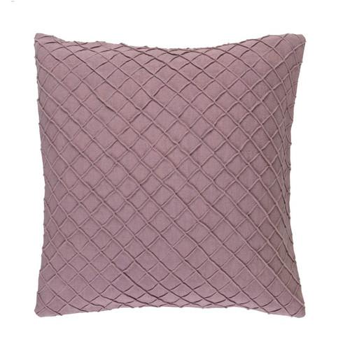 "20"" Pale Purple Contemporary Square Throw Pillow - IMAGE 1"