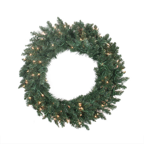 Pre-Lit Traditional Pine Artificial Christmas Wreath - 30-Inch, Clear Lights - IMAGE 1