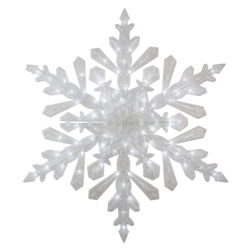 """47"""" LED Lighted Twinkling Cool White Snowflake Christmas Outdoor Decoration - IMAGE 1"""