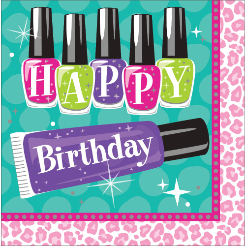 "Club Pack of 192 Vibrantly Colored Disposable ""Happy Birthday"" Party Luncheon Napkins 6.5"" - IMAGE 1"