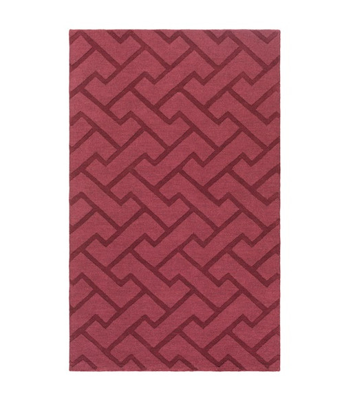 5' x 8' Dark Mulberry Purple and Brown Hand Tufted Rectangular Area Throw Rug - IMAGE 1