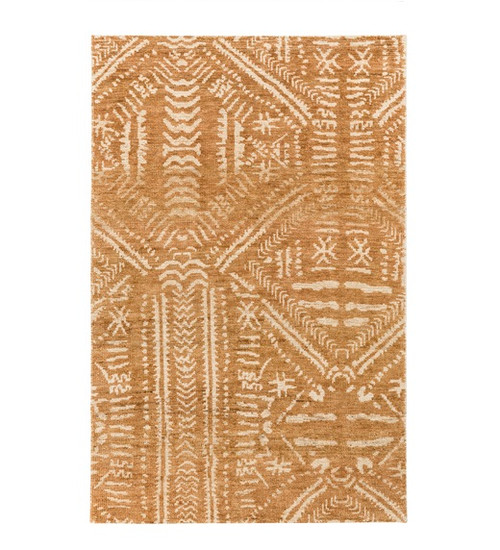 8' x 10' Mohave Legacy Light Brown and Beige Hand Knotted Rectangular Area Throw Rug - IMAGE 1
