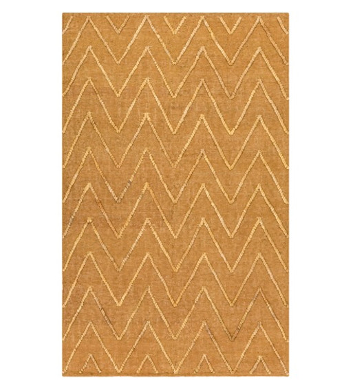 5' x 7.5' Biscuit Brown Hand Woven Area Throw Rug - IMAGE 1