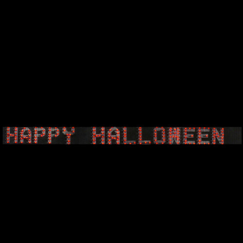 "80"" Orange and Black Lighted Happy Halloween Holiday Banner - IMAGE 1"