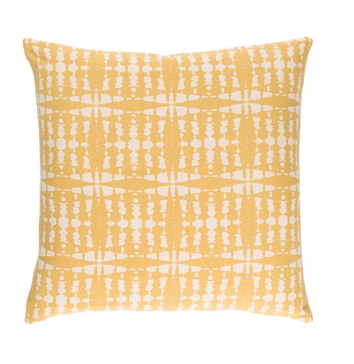 "20"" Golden Yellow and Cream Chevron Decorative Throw Pillow - Down Filler - IMAGE 1"
