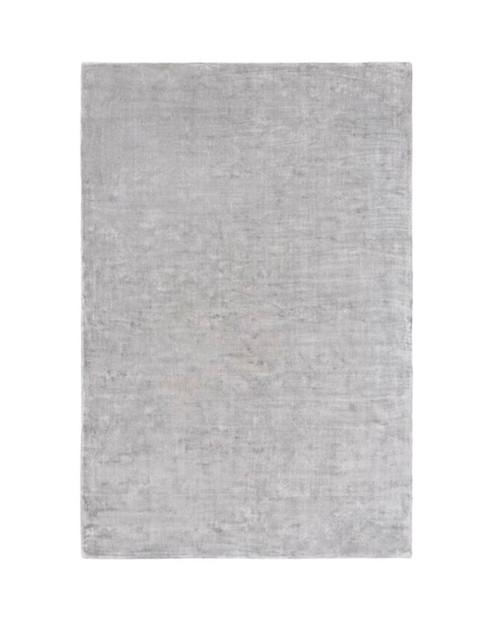 4' x 6' Solid Cloud Gray Hand Loomed Area Throw Rug - IMAGE 1