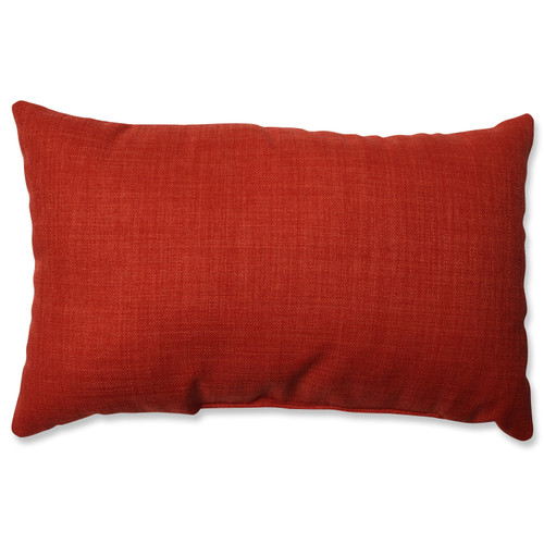 "18.5"" Poppy Red Solid Rectangular Throw Pillow - IMAGE 1"