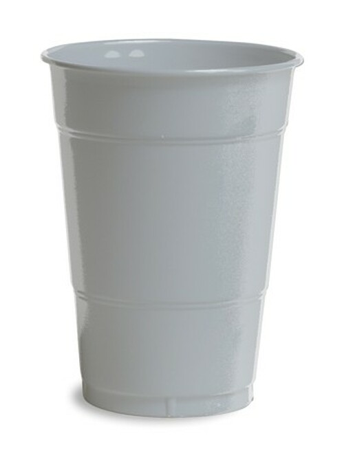 Club Pack of 240 Shimmering Silver Disposable Drinking Party Tumbler Cups 16 oz. - IMAGE 1