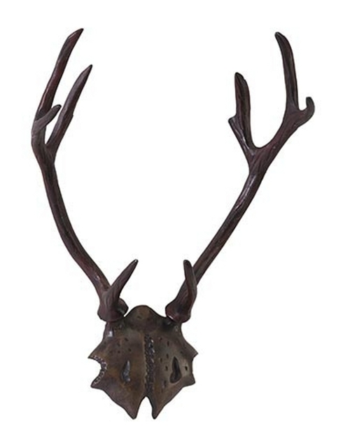 "19"" Rustic Lodge Mathers Cast Aluminum Wall Mounted Animal Antlers - IMAGE 1"