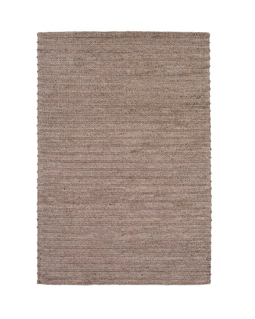4' x 6' Brown Braided Stripes Hand Woven Rectangular Area Throw Rug - IMAGE 1