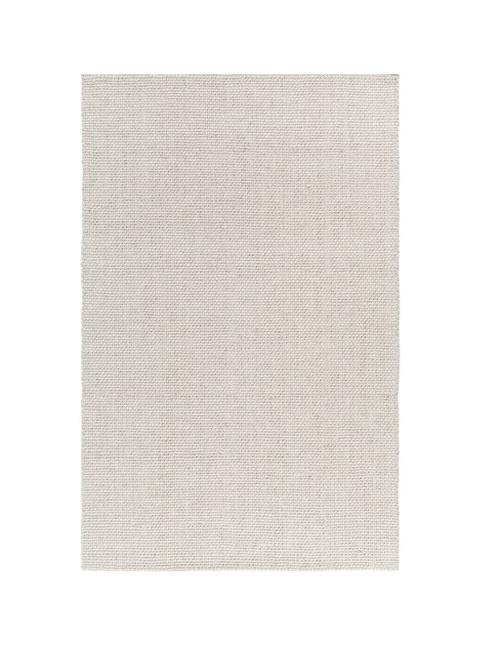 3.25' x 5.25' Tuscan Escape Gray and White Hand Woven Rectangular Wool Area Throw Rug - IMAGE 1
