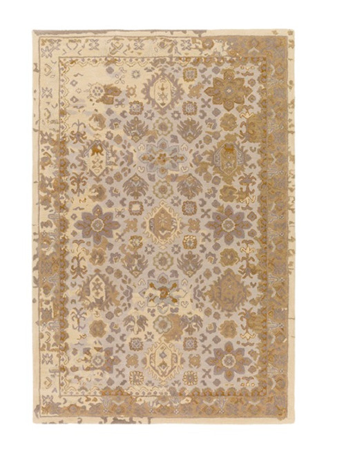 9' x 13' Tortilla Brown and Ivory Hand Tufted Rectangular Area Throw Rug - IMAGE 1