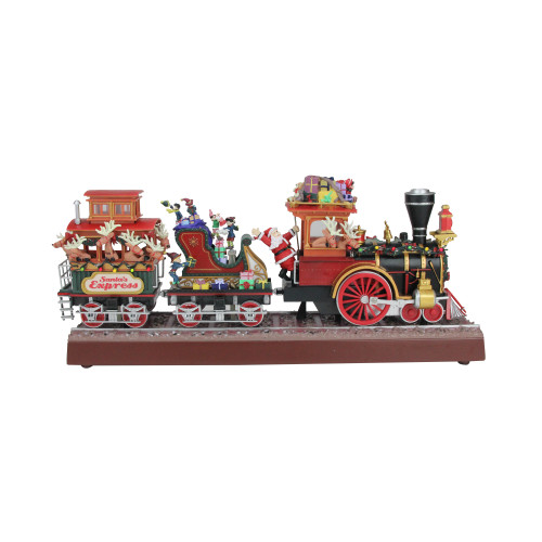 Red and Brown Animated Musical Lighted Santa's Express Decoration - IMAGE 1
