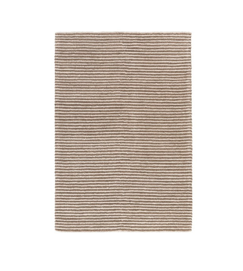 5' x 7.5' Beachy Boardwalk Teepee Brown and Alluring White Hand Woven Wool Area Throw Rug - IMAGE 1