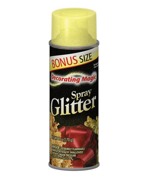 Decorating Magic Gold Glitter Christmas Spray - 6 Ounces - IMAGE 1