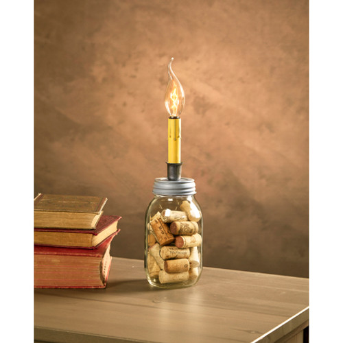 8' Cleveland Vintage Lighting Small Mouth Canning Jar Dripping Candlestick Light Bulb Lamp Adapter - IMAGE 1