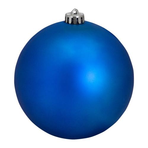"Lavish Blue Shatterproof Matte Christmas Ball Ornament 6"" (150mm) - IMAGE 1"