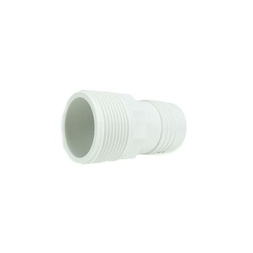 "3.25"" White Hydro Tools Swimming Pool or Spa ABS Threaded and Barbed Hose Adapter - IMAGE 1"