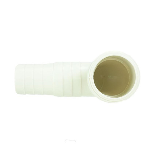 "4.75"" White HydroTools Swimming Pool or Spa Standard Tapered Threaded and Barbed Elbow Fitting - IMAGE 1"