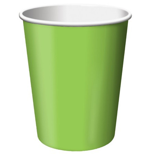 Club Pack of 240 Fresh Lime Green Disposable Paper Drinking Party Tumbler Cups 9oz. - IMAGE 1