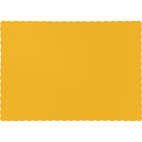"Club Pack of 600 Yellow Solid Disposable Table Placemats 13.5"" - IMAGE 1"
