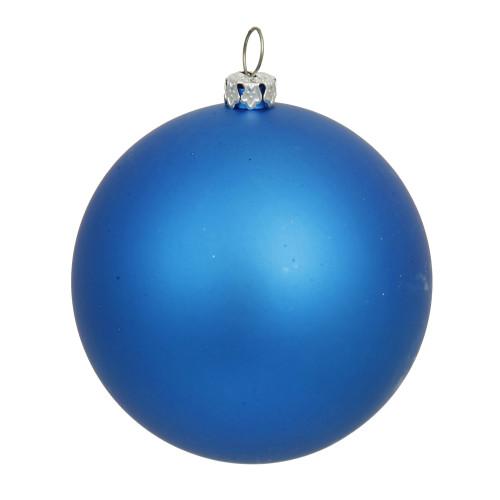 "Matte Blue Shatterproof Christmas Ball Ornament 15.75"" (400mm) - IMAGE 1"