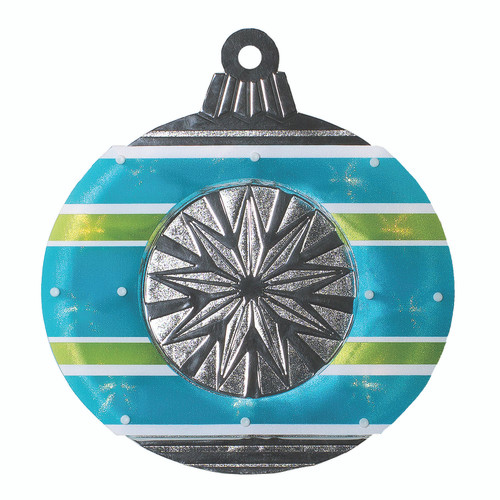 "15.5"" Blue and Green Christmas Window Silhouette Decor - IMAGE 1"