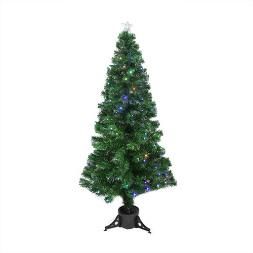6' Pre-Lit LED Color Changing Fiber Optic Christmas Tree with Star Tree Topper - IMAGE 1
