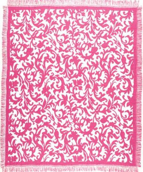 "Fuchsia Hamlet Afghan Throw Blanket 50"" x 60"" - IMAGE 1"