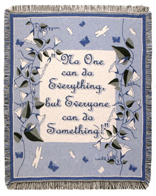"""No One Can Fringed Afghan Throw Blanket 60"""" x 50"""" - IMAGE 1"""