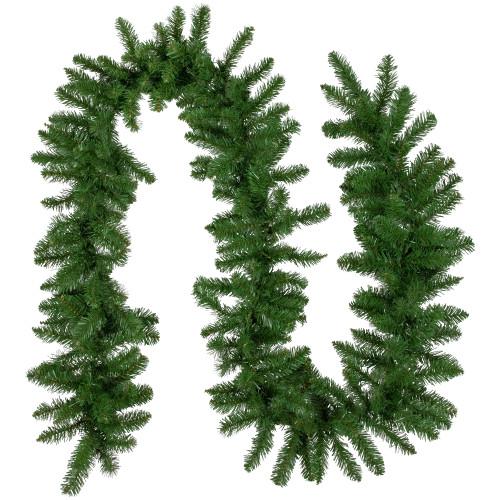 "9' x 10"" Eastern Pine Artificial Christmas Garland - Unlit - IMAGE 1"