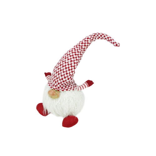 """25"""" Red and White Cheerful Charlie Sitting Santa Gnome Christmas Tabletop Figurine - IMAGE 1"""