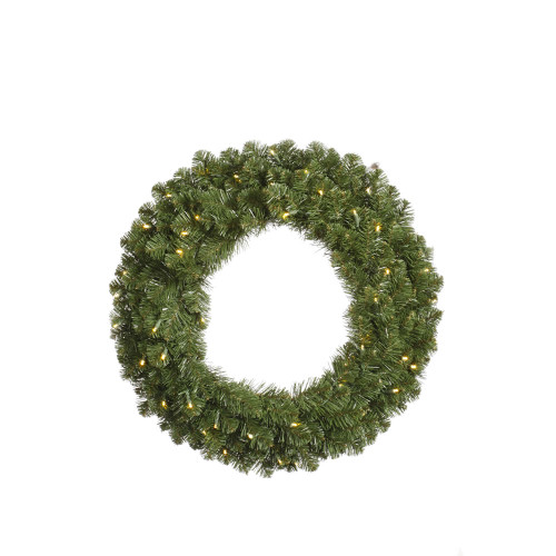 5' Pre-Lit Double-Sided Grand Teton Commercial Christmas Wreath - Clear LED - IMAGE 1