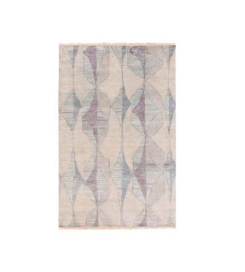 9' x 13' Traditional Gray and Blue Hand Knotted Rectangular Wool Area Throw Rug - IMAGE 1