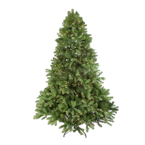 7.5' Pre-Lit Noble Fir Full Artificial Christmas Tree - Clear Lights - IMAGE 1