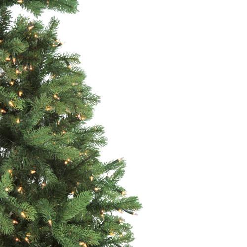 7.5' Pre-Lit Noble Fir Full Artificial Christmas Tree ...