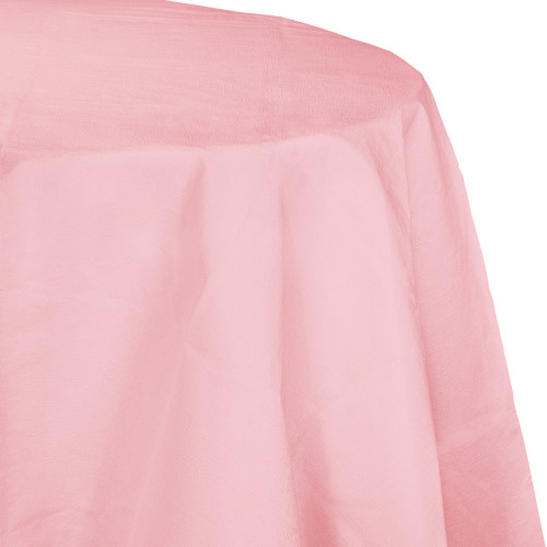 """Club Pack of 12 Classic Pink Disposable Round Picnic Party Table Covers 82"""" - IMAGE 1"""