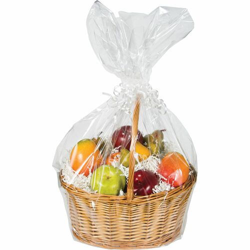 Club Pack Of 12 Clear Christmas Wedding Large Cellophane Gift Basket Bags 24 31008715