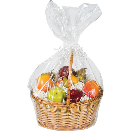 "Club Pack of 12 Clear Christmas and Wedding Large Gift Baskets 24"" - IMAGE 1"