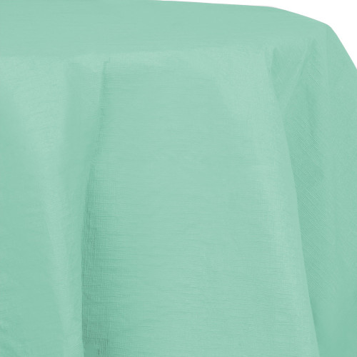 "Club Pack of 12 Teal Green Round Heavy-Duty Tablecloth 82"" - IMAGE 1"