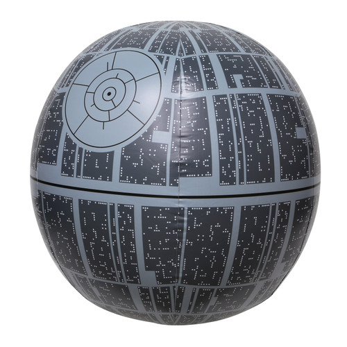 "31"" Black Star Wars Death Star XXL Light Up Inflatable Beach Ball - IMAGE 1"
