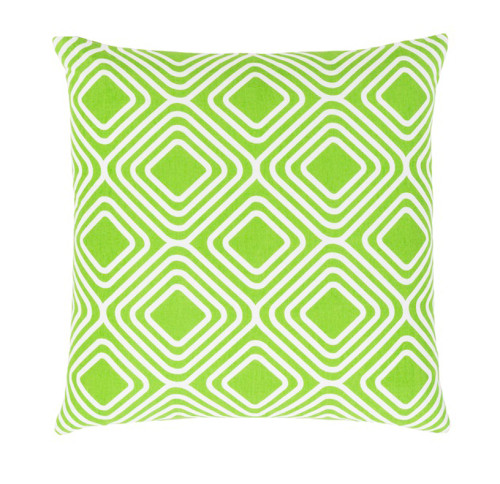"""18"""" Lime Green and White Decorative Throw Pillow - Down Filler - IMAGE 1"""
