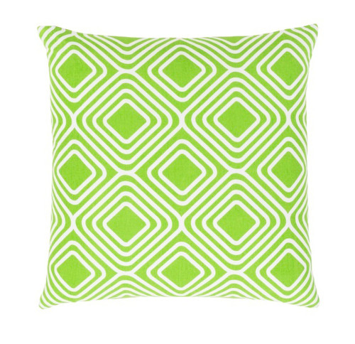 """20"""" Lime Green and White Decorative Throw Pillow - Down Filler - IMAGE 1"""
