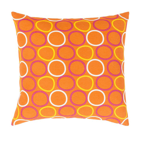 "20"" Orange, Magenta Pink and Yellow Decorative Throw Pillow - Down Filler - IMAGE 1"