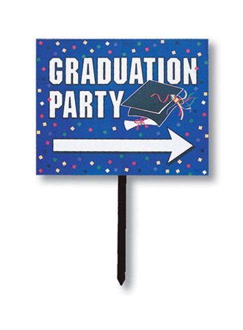 """Pack of 6 Blue Graduation Party Outdoor Garden Yard Sign Decorations 30.5"""" - IMAGE 1"""