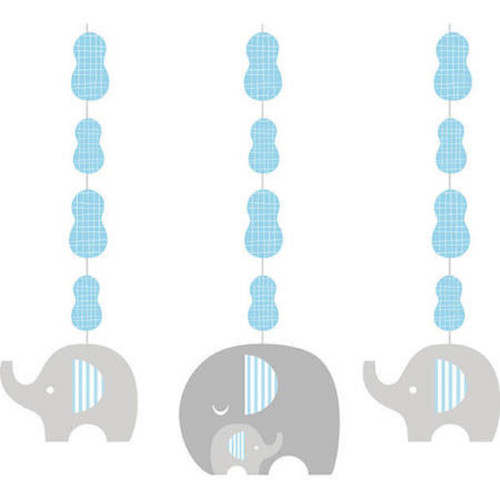 """Club pack of 18 Blue and Gray Little Peanut Boy Hanging Cutout Party Decorations 36"""" - IMAGE 1"""